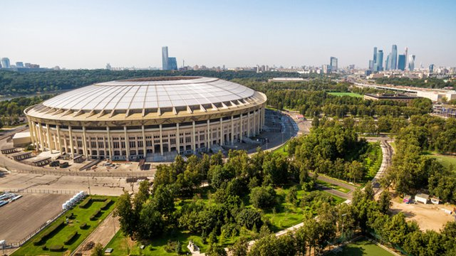 Russia's soccer stadiums go green for World Cup