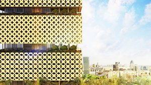 Green-roofed wooden tower in Lagos maximizes daylight, natural ventilation