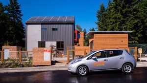 <p>The car share program at Grow will include an electric car charged by a solar-powered station&mdash;a unique zero-carbon transportation option for residents.</p>