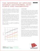 The Interface of Ground Source Geothermal Heat Pumps and Warmboard
