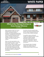 Effects of the Thermal Envelope on Home Energy Efficiency