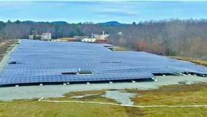 Closed landfill now home to solar farm