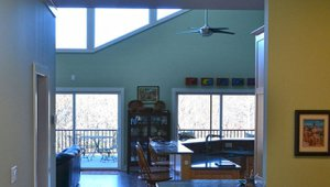 Solar tubes bring daylight into interior spaces in the home.