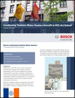 Condensing Tankless Water Heaters Retrofit in NYC Art School