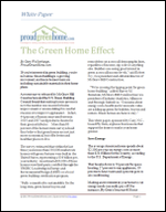 The Green Home Effect