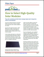 How to Select High-Quality Solar Modules