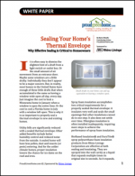 Sealing Your Home's Thermal Envelope