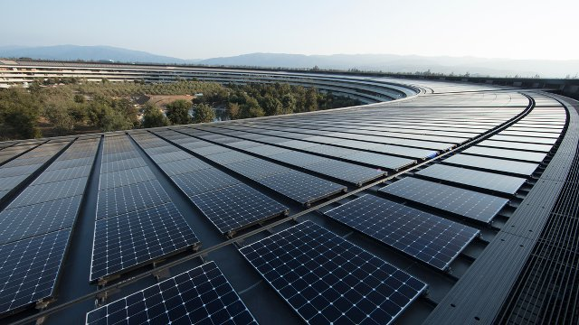Apple converts buildings to 100% renewable energy