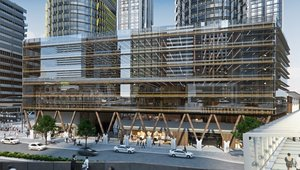 Australia's first timber office building taking shape