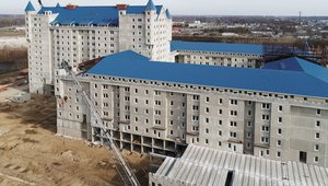 Precast concrete panels solidify new 'castle' apartments