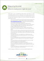 When is wind power right for you?