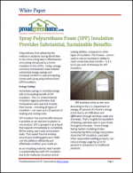 Spray Polyurethane Foam (SPF) Insulation Provides Substantial, Sustainable Benefits