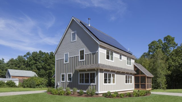 Modular home uses ductless mini splits to handle Massachusetts winters