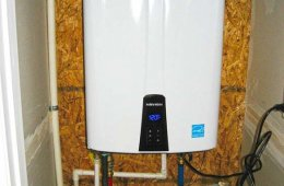 High-efficiency on-demand water heaters provide hot water instantly as it is needed, rather than using energy to keep a whole tank hot.