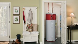 High performance home designed for high performance water heater