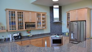 The home was equipped with a high-efficiency ENERGY STAR refrigerator and dishwasher for energy and water savings.