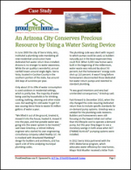 An Arizona City Conserves Precious Resource by Using a Water Saving Device