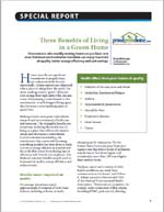 Three Benefits of Living in a Green Home