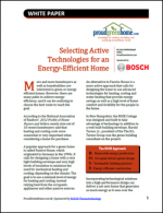 Selecting Active Technologies for an Energy-Efficient Home