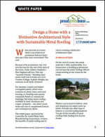 Design a Home with a Distinctive Architectural Style with Sustainable Metal Roofing
