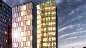 Company building nation's first wooden high-rise