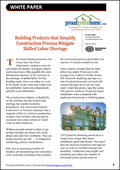 Building Products that Simplify Construction Process Mitigate Skilled Labor Shortage