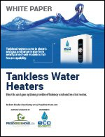 Tankless Water Heaters: Electric and Gas Options Provide Efficiency and Endless Hot Water