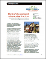 Ply Gem's Commitment to Sustainable Practices