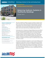 Multifamily buildings balance hydronic systems