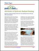 Attributes of Hydronic Radiant Heating