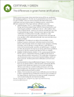 The Differences in Green Home Certifications