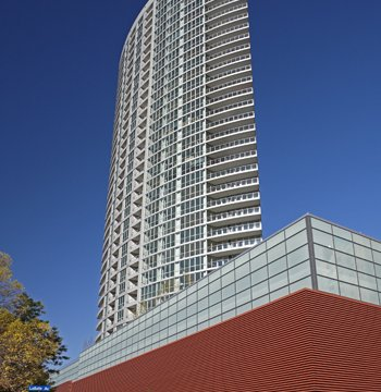 LEED silver-designed tower receives splash of color, modern aesthetic from wall panels