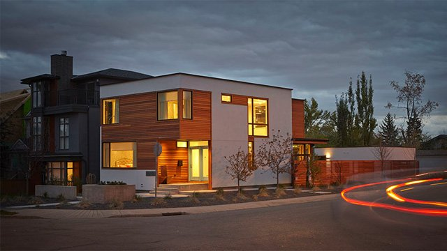 A modern Lindal home in the heart of downtown