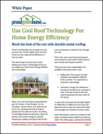 Use Cool Roof Technology for Home Energy Efficiency
