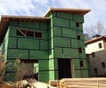 BASF spray foam will insulate the Proud Green Home at Serenbe