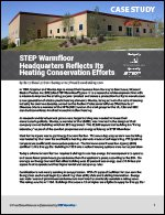 STEP Warmfloor's Headquarters Reflects Their Heating Conservation Efforts