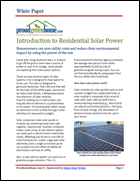Introduction to Residential Solar Power
