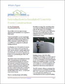 Introduction to Insulated Concrete Form Construction