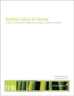 Nutrition Labels for Homes: A Way for Homebuyers to Make More Ecological, Economical Decisions
