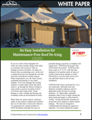 An Easy Installation for Maintenance-Free Roof De-Icing