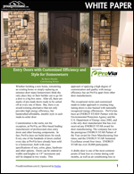 Entry Doors with Customized Efficiency and Style for Homeowners