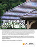 Today's Most Green Roofing