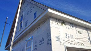 Overhangs help to protect windows from high summer sun and winter storms.