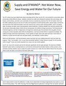 Supply and D'MAND®: Hot Water Now, Save Energy and Water for Our Future